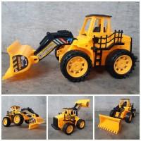 Mainan Alat Berat Buldozer Edukasi - Traktor Kontruksi Anak Edukatif