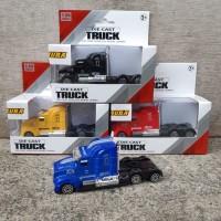 Diecast Kepala Truk Trailer Alloy - Miniatur Mobil Truck Kontainer