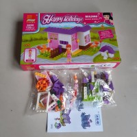 Lego Building Block Series - Rumah Rumahan Anak 135 Pcs Brick Peizhi