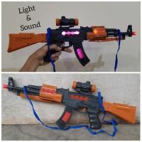 Mainan Senapan Ak-47 Light Sound Tembak Tembakan Ak 47 Anak Edukasi