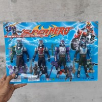 Mainan Set Figure Satria Baja Hitam 4 Pcs - Figur Robot Kamen Rider