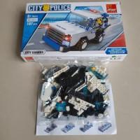 Lego Mobil Polisi City Police - Jeep Car 107 Pcs Brick Block Peizhi