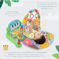 IMUNDEX Baby musical Playgym Activity Gym PIano Playmat 6-in-1 - Biru Muda