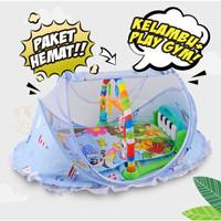 [PAKET] Kelambu Bayi Large + PIano Musical Playgym Playmat IMUNDEX