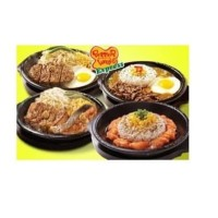 Sunrise Hot Plate Steak Bulat Piring Pemanggang Pepperlunch 18 cm