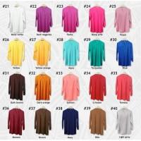 Blus muslim polos tunik baju atasan wanita / blouse jumbo / all size -