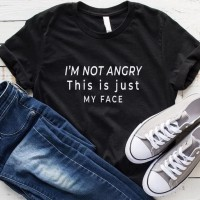 BAJU KAOS DISTRO MURAH IM NOT ANGRY THIS IS JUST MY FACE