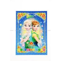 Buku Mewarnai Full Color Frozen