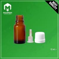 Botol Kaca Amber 10mL / Botol Essential Oil 10 mL - Tutup Filler Putih