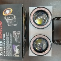 Fog lamp mobil LED ANGEL EYES ring Merah