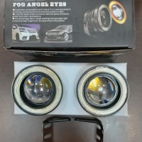 Fog lamp mobil LED ANGEL EYES ring putih
