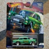 Hotwheels car culture Demons Dragstrip 55 Chevy gasser Bel Air Hijau