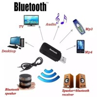 Bluetooth Receiver audio music bonus 1 kabel Aux 1-1