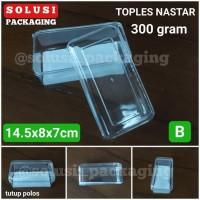Toples NASTAR 300gr Tutup Polos-Toples Mika Toples Plastik Toples Kue