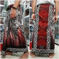 sarung batik mahda pekalongan dewasa-merah variasi sinar zigzag lj6