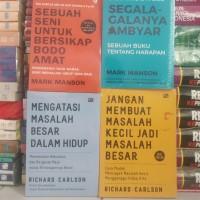 Paket 4 Buku Best seller Motivasi by Mark Manson dkk