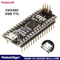 Robotdyn Nano V3 Atmega328 CH340C 5V 16Mhz Compatible for Arduino Nano