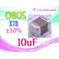 SMD 10uF 10V X7R ±10% 0805 2012 Multilayer Ceramic Capacitor