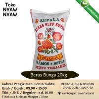 Beras Ramos Kepala cap Bunga 20kg - GOJEK (bkn bmw, topi koki, lele)