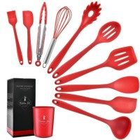 silicone kitchen 11 in 1 stand set spatula cooking set tahan panas