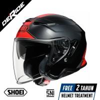 Helm SHOEI J-Cruise 2 ADAGIO TC-1 RED / BLACK SNI