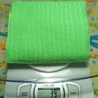 Microfiber kain lap hijau terang bahan halus lembut