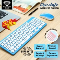 Keyboard Mouse Combo Wireless Divipard Ultra Slim + Silent Click KM530