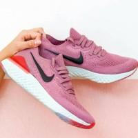 Sepatu Nike Epic React 2.0 Flyknit Pink Black - Premium Import