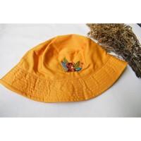 Bucket Hat Harimau Sumatra - sulaman tangan by Jahitan oma