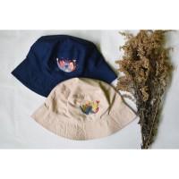 Bucket Hat Owa Jawa - sulaman tangan by Jahitan oma