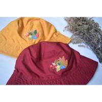 Bucket Hat Luntur Jawa - sulaman tangan by Jahitan oma
