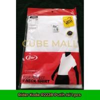 Rider Kaos Dalam Pria V-Neck (Kode R222B Putih) Isi 1 Pcs