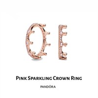 cincin pandora sparkling crown ring