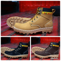 Sepatu Boots Safety Besi Dr Becco Inova Original Full Kulit Pull Up