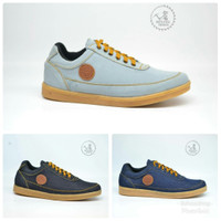Sepatu Sneakers Mining Dilan Denim Canvas Original Gaya Kasual