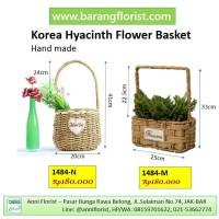 Korea Hyacinth Flower Basket (1484-N) Keranjang bunga, aksesoris bunga