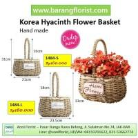 Korea Hyacinth Flower Basket (1484-L) Keranjang Bunga, aksesoris bunga