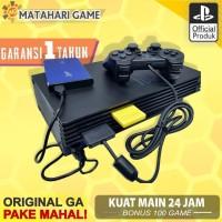 PS2 Paket Lengkap - Sony Playstation Fat HDD80GB + Free 2Stik -100Game