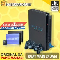 Sony PS2 - PS2 Fat Hardisk External 60Gb FULL GAME + 2 stik + 90 game