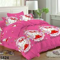 Bedcover Premium + Sprei Set Hello Kitty Crystal SUPERMURAH