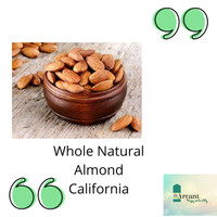Almond Whole Natural - 250gr (Seperempat kilo)