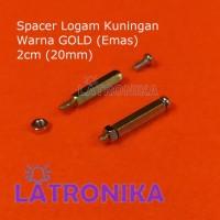 Spacer 20mm 2cm Kaki PCB Logam Kuningan High Grade 20 mm 2 cm