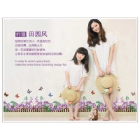 JEJO AY872-hedge purple flower wall sticker/ wallsticker 60x90