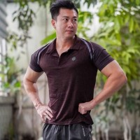 Kaos Kerah Polo Olahraga GYM Fitness UA Rush S135 Slim Fit Cut Male/Pr