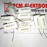 R TAIWAN 470 ohm 470R 470Ohm 5w 5watt 5 watt Resistor