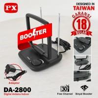 Antena TV Indoor PX DA-2800 Digital TV DVB-T2 dengan Tuner Booster