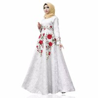 Maxy/Maxi Dress AYANA Bordir-Baju Gamis Wanita Muslim Terbaru L dan XL