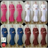 Dress/Gamis/Maxi Brukat mermaid- Baju Gamis Wanita Muslim Brokat