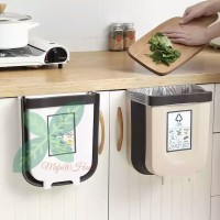 Kotak sampah lipat portable tempat plastik serbaguna Rak dapur