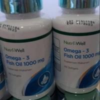 nutri-well omega 3 fish oil 1000mg EPA & DHA-minyak ikan isi 60softgel